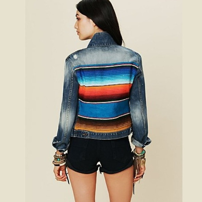 Striped Mexican Denim Jacket