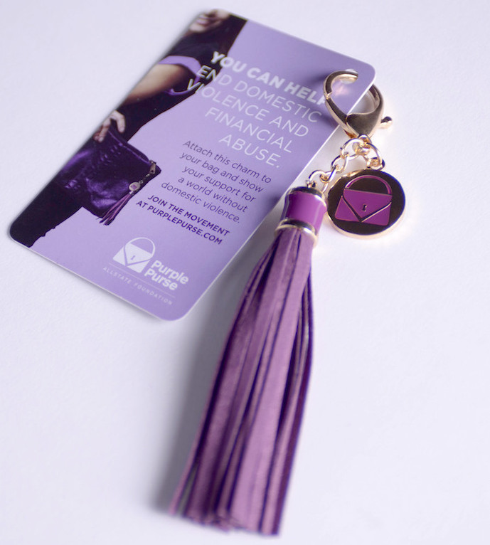 Purple purse charm